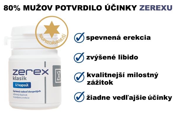 Skúsenosti so Zerexom sú viac než pozitívne - jeho účinky potvrdilo 80% mužov, ktorí ho vyskúšali.