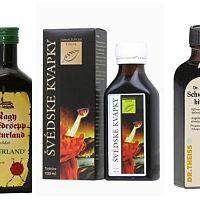 Švédske kvapky - bylinné extrakty na vnútorné aj vonkajšie použitie