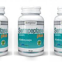 Kompava Serrapeptase Plus - recenzia na enzýmy proti zápalom