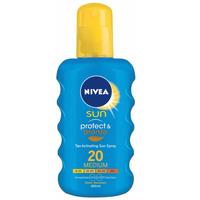 Nivea Sun Protect & Bronze intenzívne mlieko na opaľovanie SPF 20 200 ml