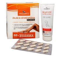 Priessnitz Žilná a cievna výživa Forte. 60 tob. + Mazanie na žily a cievy De Luxe, 125 ml