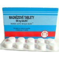 Magnéziové tablety Galvex, 500 mg