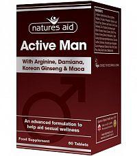 ACTIVE MAN Arginín, Kórejský ženšen, Maca, Damiána, Zinok 60 tabliet