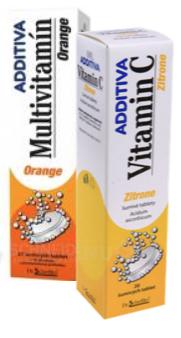 ADDITIVA Multivitamin Orange+ Zitrone 1+11 ks