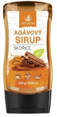 Allnature Agávový sirup Skořice BIO 350 g