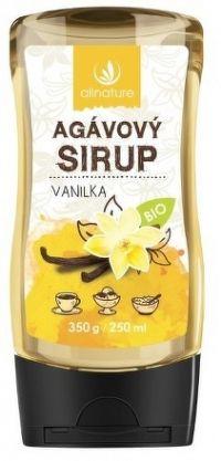 Allnature Agávový sirup Vanilka BIO 350 g