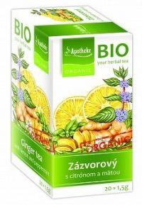Apotheke Bio Selection Zázvor. čaj s citr. a mätou 20x1,5g