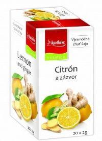 Apotheke Premier Selection čaj citrón a zázvor 20x2g