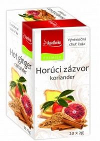 Apotheke Premium Selection Čaj horúci zázvor koriander 20x2g