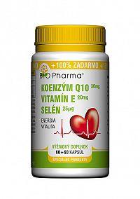 Bio Pharma Koenzým Q10 30mg Vit.E20mg Selén 25μg 120 kapsúl