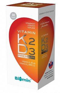 Biomin Vitamin K2 + Vitamin D3 2000.I.U. Premium 30 kapsúl