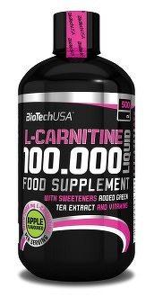 BioTech USA L-Carnitine 100000 500 ml čerešňa