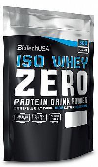 BiotechUSA ISO WHEY ZERO NATIVE (sáčok) 500 g oriešok