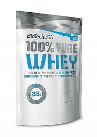 BiotechUSA PURE WHEY (sáčok) 1000 g jahoda