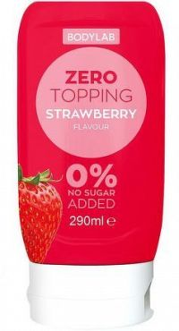Bodylab Zero Topping Syrup jahoda 290 ml