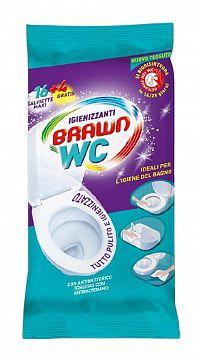 Brawn Antibakteriálne a dezinfekčné vlhčené utierky WC maxi 16+4ks