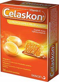Celaskon Vitamin C s propolisom 16 pastiliek