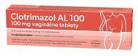 Clotrimazol AL 100mg vaginálne tablety 6ks