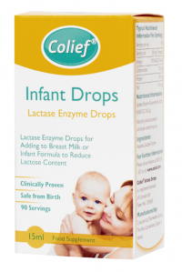 Colief Infant Drops Lactase Enzyme kvapky do mlieka proti kolike 15ml