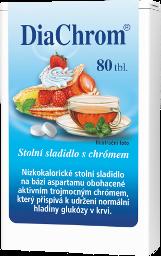 DiaChrom nízkokalorické sladidlo 80 tabliet