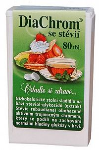 DiaChrom s glykozidmi steviolu 80 tabliet