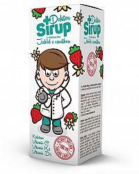 Doktor Sirup kalciový sirup s príchuťou jahôd s vanilkou 100ml