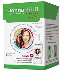 Donna HAIR Forte 3 mesačná kúra 90cps + DonnaHAIR PERFECT šampón 100ml