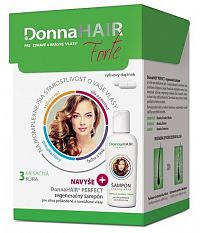 Donna HAIR Forte 3 mesačná kúra cps 90 ks + DonnaHAIR PERFECT šampón 100 ml, 1x1 set
