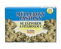 Dr. Müller MÜLLEROVE PASTILKY SO ZÁZVOROM zahriatie 24 ks