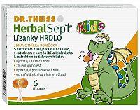 Dr.Theiss HerbalSept Kids lízanky hrdlo 6 ks