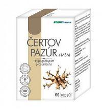 EDENPharma ČERTOV PAZÚR + MSM 60 cps