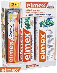 ELMEX JUNIOR SYSTÉM zubná kefka 1 ks + zubná pasta 75 ml + ústna voda 400 ml, 1x1 set