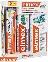 ELMEX JUNIOR SYSTÉM zubná kefka + zubná pasta 75ml + ústna voda 400ml