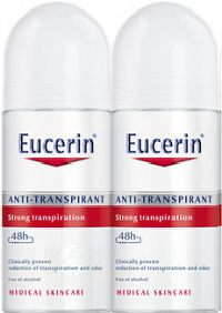 Eucerin Deo Guličkový antiperspirant roll on 2x50 ml 1x1 set