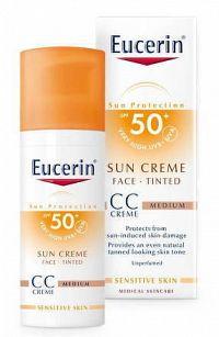 Eucerin SUN PHOTOAGING CONTROL CC KRÉM SPF 50+ krém na opaľovanie na tvár, stredne tmavý 1x50 ml