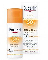 Eucerin SUN PHOTOAGING CONTROL CC KRÉM SPF 50+ krém na opaľovanie na tvár, svetlý 1x50 ml