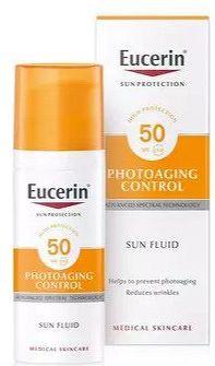 Eucerin SUN PHOTOAGING CONTROL SPF 50 na tvár emulzia na opaľovanie 1x50 ml