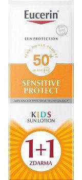 Eucerin SUN SENSITIVE PROTECT SPF50+ detské mlieko na opaľovanie 2x150 ml 1x1 set