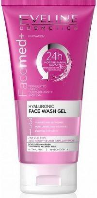Eveline Facemed+ -  Hyaluronový čistící pleťový gel 3v1, 150 ml