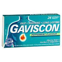 Gaviscon žuvacie tablety tbl mnd 24 ks