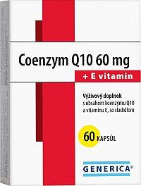GENERICA COENZYM Q10 60 mg + E vitamin 60 cps