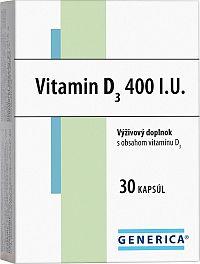 GENERICA VITAMIN D3 400 I.U. 30 cps