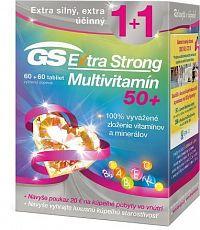 GS Extra Strong Multivitamín 50+ + darček 2018 tbl 60+60 + darčekový poukaz 1x1 set