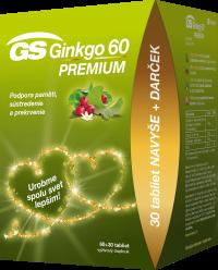 GS Ginkgo 60 PREMIUM + darček 60+30tbl