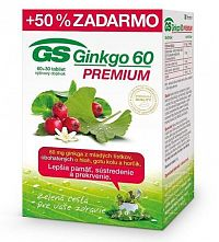 GS Ginkgo 60 PREMIUM tbl 60+30 zadarmo