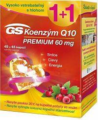 GS Koenzým Q10 60 mg PREMIUM + darček 2018 cps 45+45 + darčekový poukaz 1x1 set