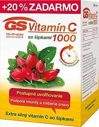GS Vitamín C 1000 so šípkami 100+20 tbl