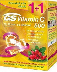 GS Vitamín C 500 so šípkami + darček 2018 tbl 70+70 + darčekový poukaz 1x1 set