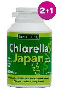 HEALTH LINK Chlorella Japan 750 tabliet 2+1 zadarmo
