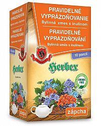 HERBEX PRAVIDELNÉ VYPRÁZDŇOVANIE Bylinná zmes s inulínom 10ks